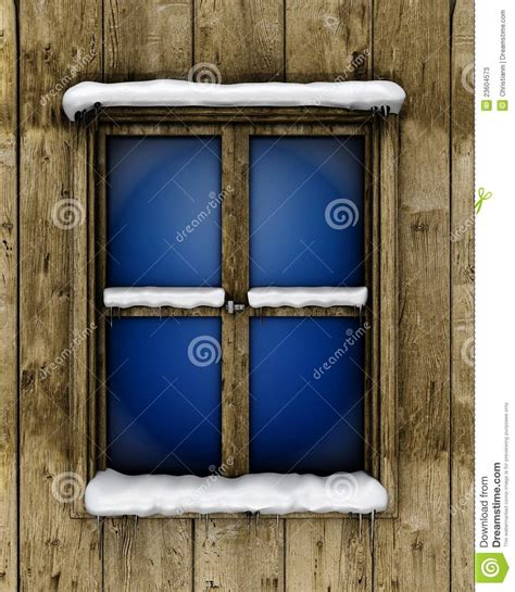 window with snow stock photos image 23604573
