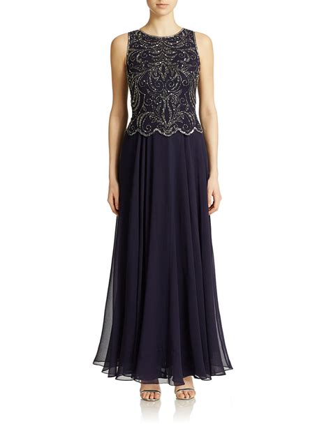 j kara beaded bodice gown j kara beaded bodice gown in purple violet lyst