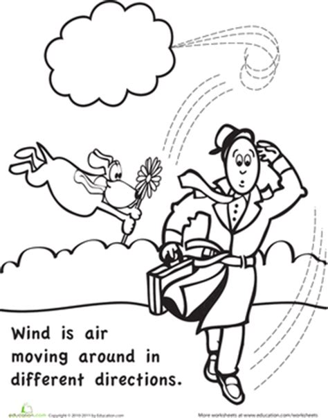 wind coloring pages for preschool color and learn wind worksheet education com