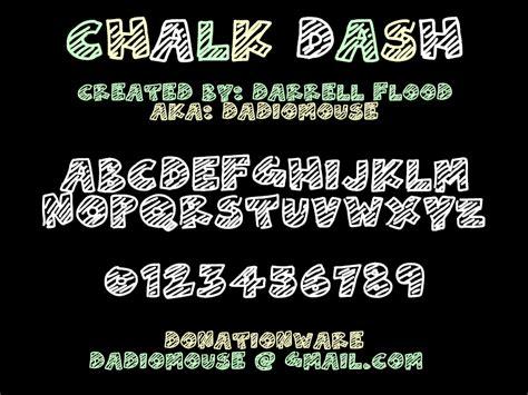 dafont chalk chalk dash font dafont com