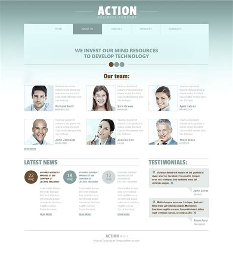 html5 template business free business html5 website template