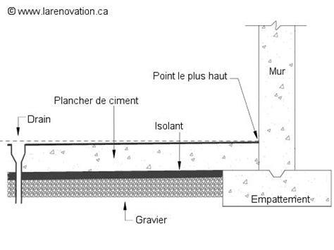 drain plancher garage couler un plancher de b 233 ton