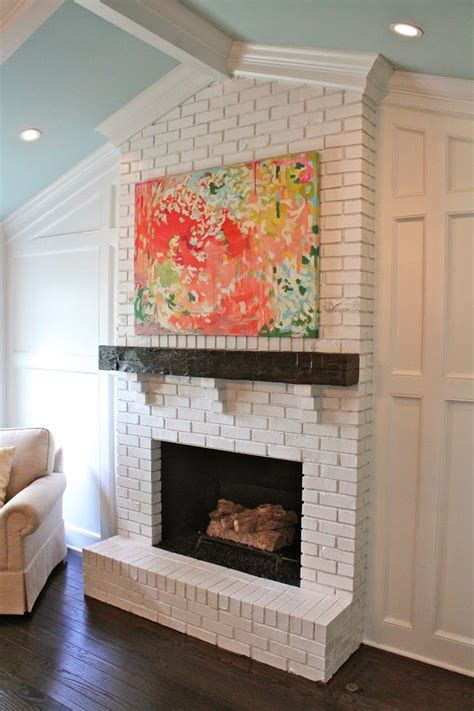 25 best ideas about white brick fireplaces on white fireplace painted brick
