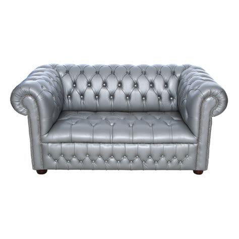 silver chesterfield style sofa city furniture hire