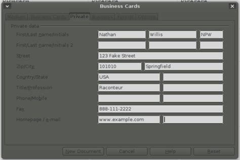 Apache Office Business Card Template by How To Make Business Cards In Openoffice Cnst Us