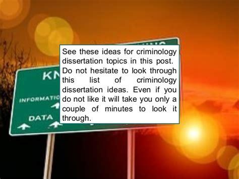 dissertation topics criminology criminology dissertation topics