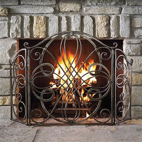 volterra fireplace screen traditional screens and room