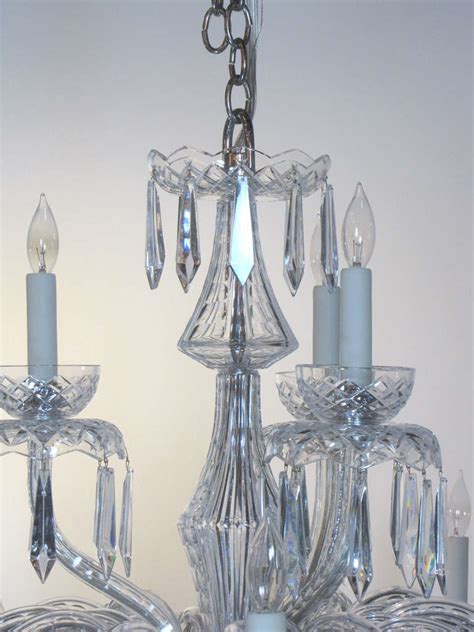 Waterford Chandelier Large Multi Tiered Mid Century Waterford