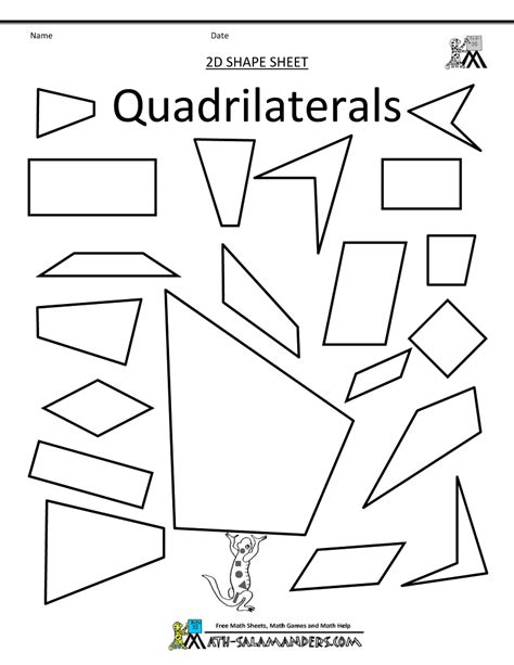 quadrilateral flashcards printable mathematics and cut outs on pinterest