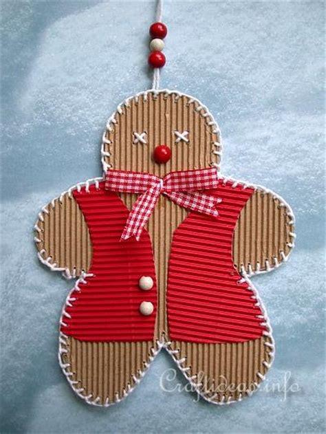Corrugated Paper Craft - craft corrugated cardboard gingerbread