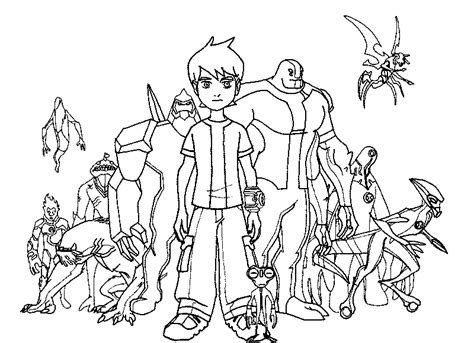 ben 10 coloring pages minister coloring