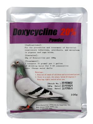 Cat Powder Medicat 100gr doxycycline 20 powder jedds bird supplies
