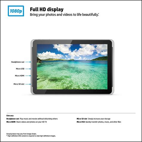 Hp Tablet 10 Inch hp 10 plus 2201 tablet front view