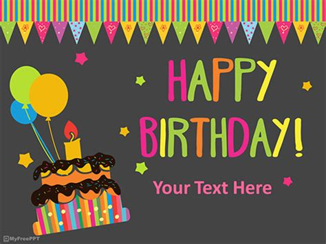 Free Birthday Powerpoint Templates Myfreeppt Com Happy Birthday Ppt Template