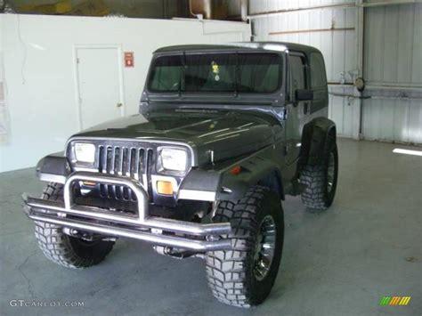 charcoal jeep wrangler 1990 charcoal gray metallic jeep wrangler laredo 4x4