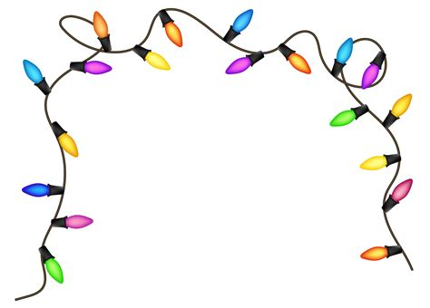 christmas lights christmas light clip art black and white