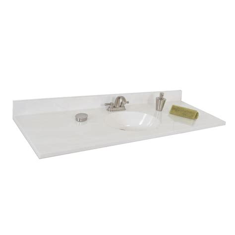 cultured marble bathroom sink shop style selections oval white on white cultured marble