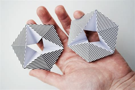 Paper Folding Templates - kaleidocycle aka folding paper minieco