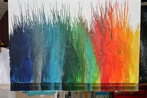 Whole Wall Murals diy melted crayon art for the whole family
