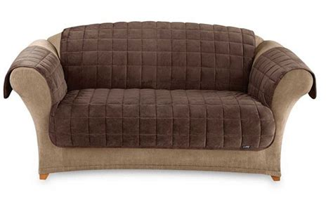 one couch deluxe pet couch cover sofa throw chocolate brown