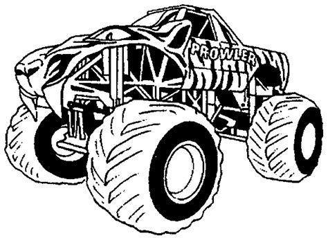 cartoon critters monster trucks coloring pages