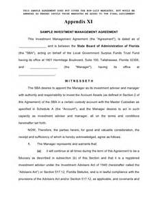 Enhanced Cash Investment Management Agreement Form