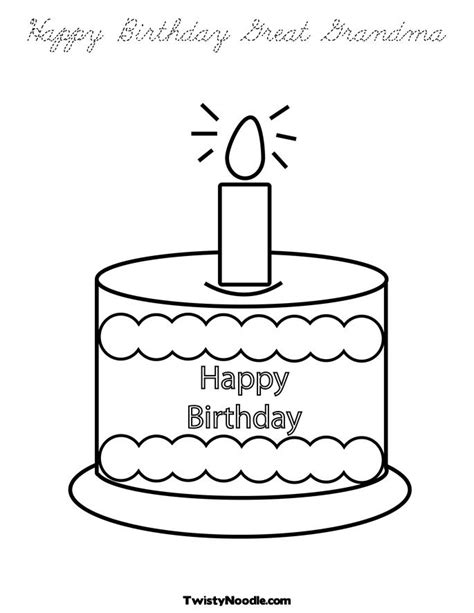 free grandma birthday cards coloring pages