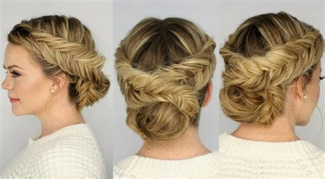 double dutch fishtail braid updo youtube