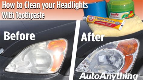 how to clean in how to clean your headlights with toothpaste