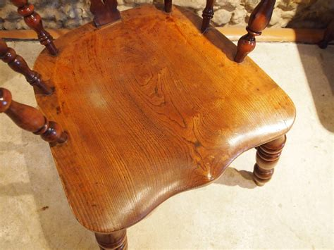 Cloverleaf Home Interiors Chair Fine Yew And Elm Victorian Broad Arm Windsor