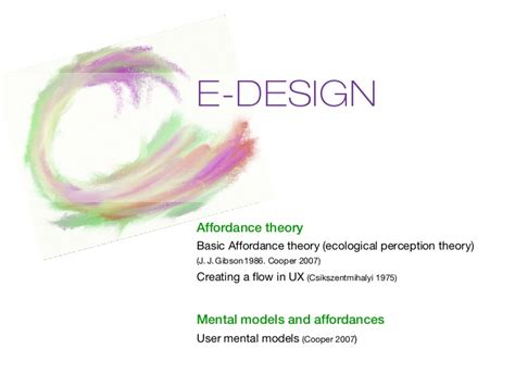 e design e design affordance theory mental models
