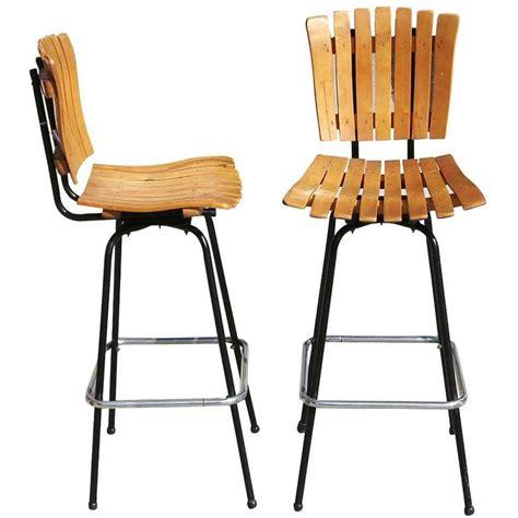 wooden bar stools for sale arthur umanoff style slat wood bar stools pair