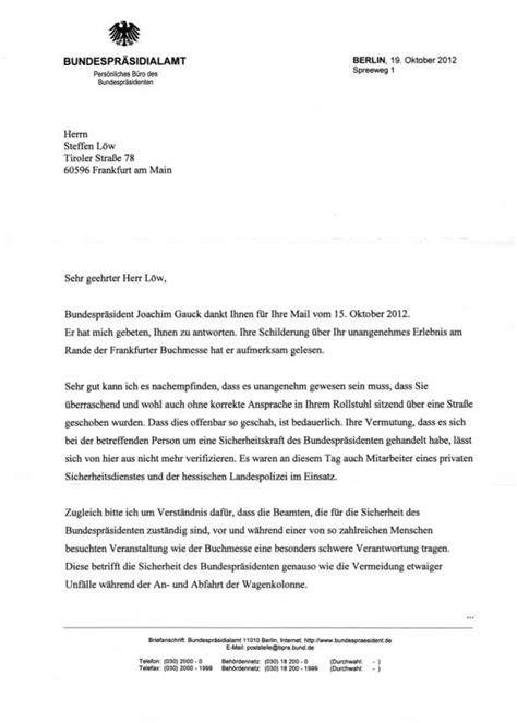Offizieller Brief Schriftgröße Bundespr 228 Sident 171 Mein Quot Eigude Quot