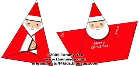 Origami Santa Clause - origami santa gift tag or card