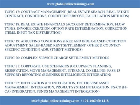 sap refx tutorial sap real estate training sap refx training got