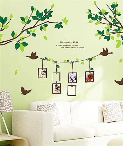 Wall Stiker Sticker Untuk Anak decorative living room wall sticker decals birch trees with birds groupcow