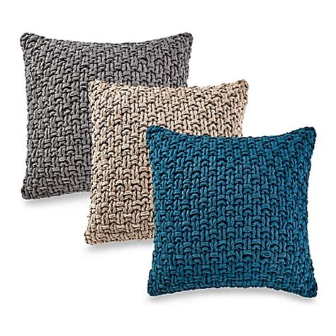 Kenneth Cole Reaction Home Chunky Knit Square Throw Pillow Bed Bath And Beyond Sofa Pillows