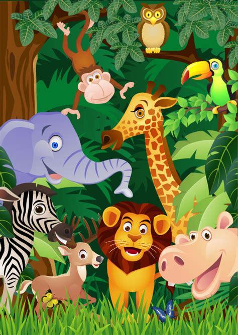 Banner Safari Hewan animal 03 vector vector animal free