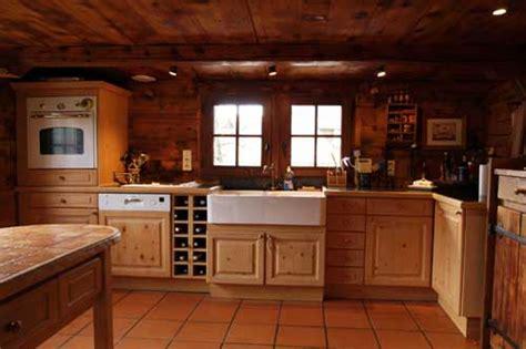 cuisine chalet photo de chalet bois et pierres th 244 nes