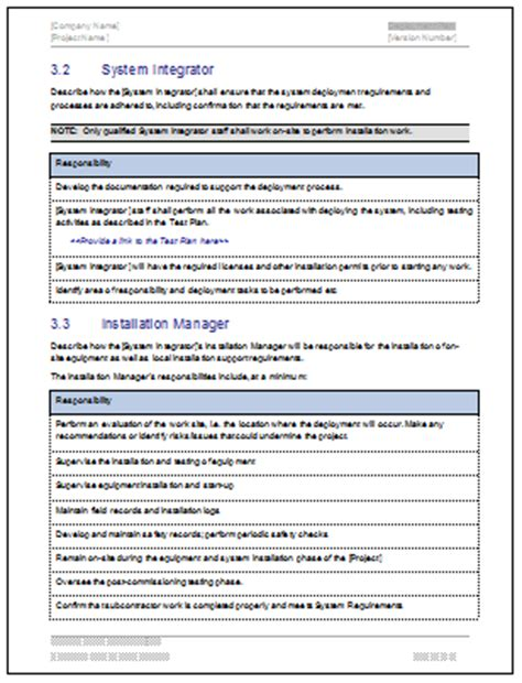 Deployment Plan Template Download 28 Page Ms Word Sle Template Project Deployment Plan Template