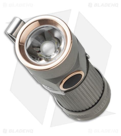 bead blasted titanium olight s1 ti baton bead blasted titanium flashlight cree