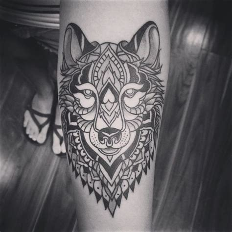 wolf mandala tattoo simonhalperntattoo mandala wolf second of this style