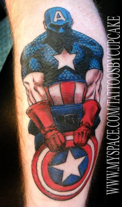 captain america tattoo captain america cool tattoos