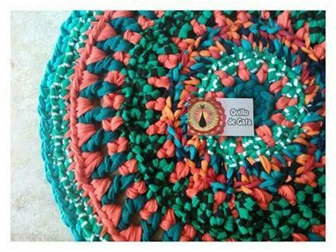 alfombras naranjas naranjas y verdes alfombras de totora o trapillo