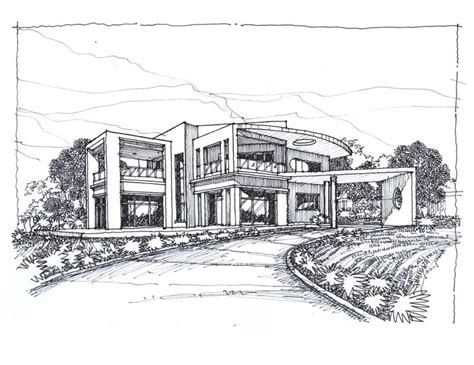 modern house drawing sketches of modern houses google search things to draw