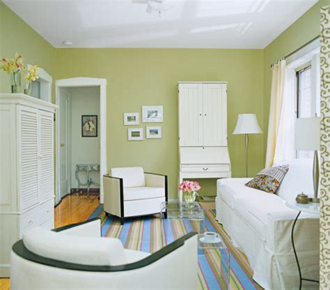 tiny house design ideas the dominant color green paint trick a small space into feeling bigger living room