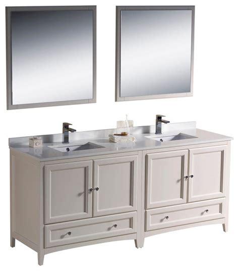 72 Inch Bathroom Vanity Sink by 72 Inch Sink Bathroom Vanity In Antique White Antique White Traditional Bathroom