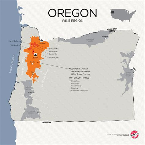 map of oregon vineyards a guide to learning oregon pinot noir wine folly