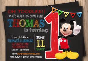 Mickey Mouse Birthday Invitations Template by 9 Mickey Mouse Birthday Invitations Free Psd Eps Jpg