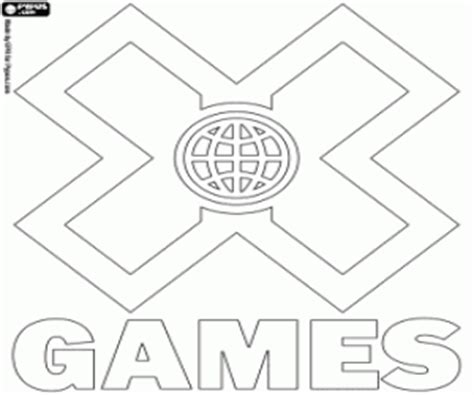 x games coloring pages x games logo coloring page printable game